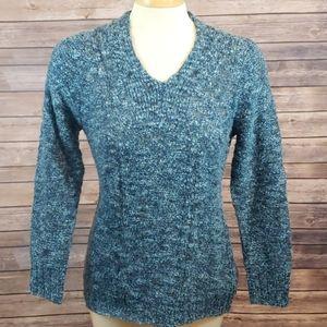 EXOFFICIO Icelandia Boucle V-neck Marled Sweater